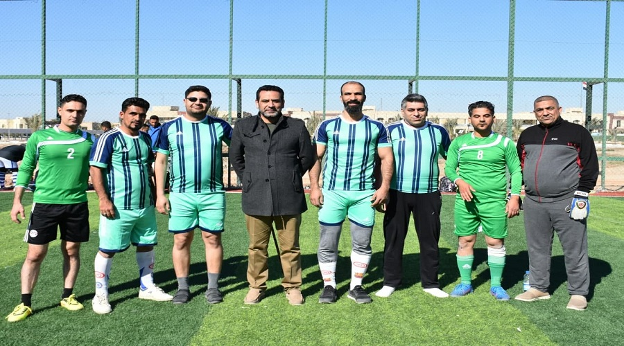 The College of Education for Pure Sciences team wins a precious victory in the President of Karbala University's five-way football tournament